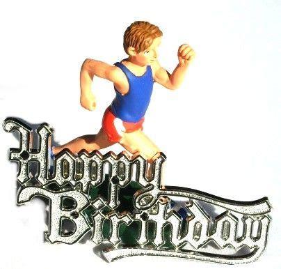 imagenes de happy birthday runner male runner or jogger resin birthday cake decoration