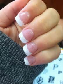 cute sparkly french tip nails nails pinterest french