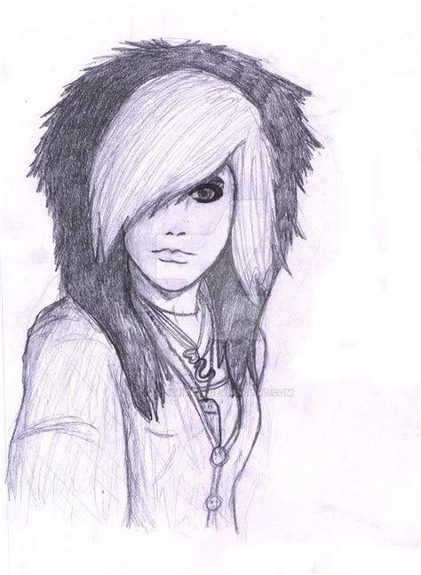 emo hairstyles drawing emo girl sketch by starlight679 on deviantart