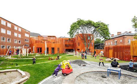 create rubber st forfatterhuset kindergarten cobe archdaily