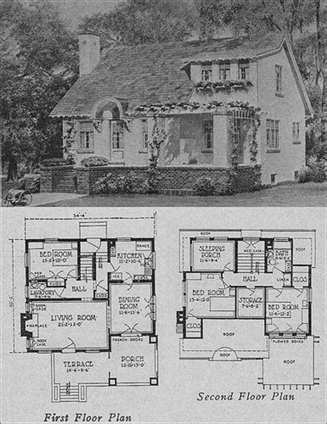 small retro house plans 1923 cottage bungalow flickr photo sharing