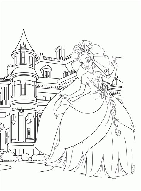 disney princesses coloring page coloring home disney princess tiana coloring pages coloring home