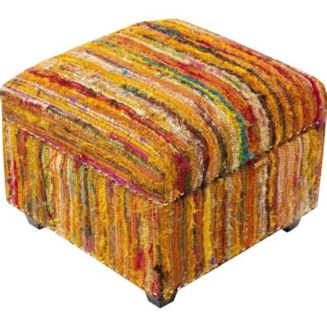 ottoman silk surya saturday night silk nailhead cube ottoman in orange