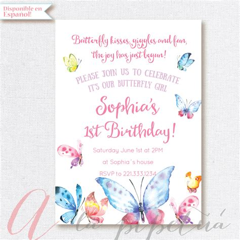 printable birthday invitations butterfly butterfly invitation birthday party butterflies party