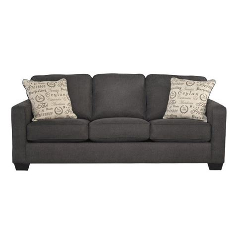 ashley furniture microfiber loveseat ashley furniture alenya microfiber sofa in charcoal 1660138