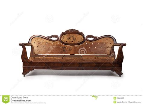 old wooden couch antique wooden couch royalty free stock photography