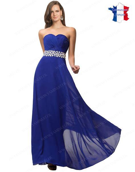 Robe Bustier Bleu Roi Mariage - robe bleu roi
