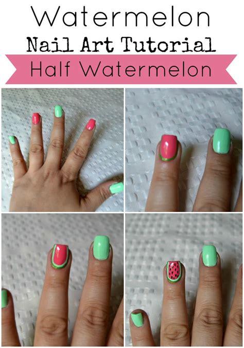 tutorial main instagram half watermelon nail art tutorial style on main