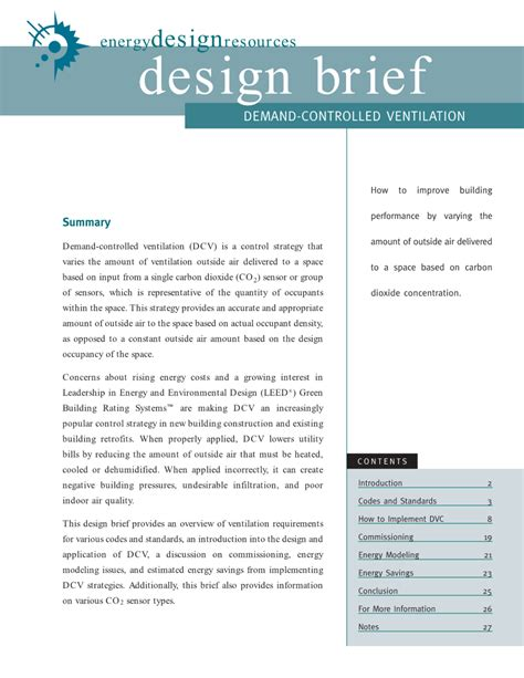 design brief for technology energy design resources building envelope page