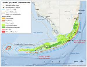 florida map national marine sanctuaries
