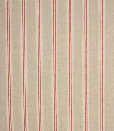 Cotswold Stripe Fabric / Red   Just Fabrics
