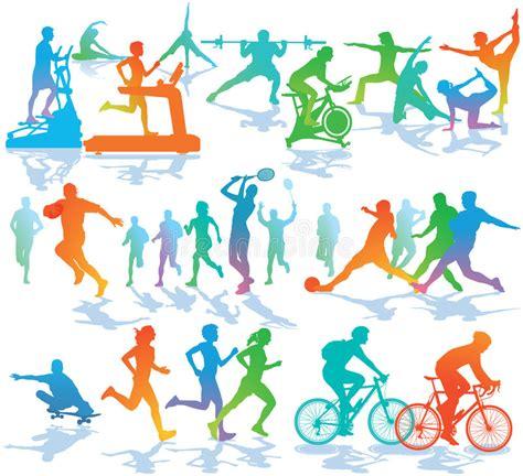 fitness  sports illustration stock vector