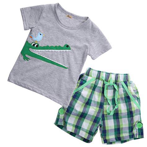t shirt pattern piece 2 pieces baby sets kids boys summer clothes crocodile