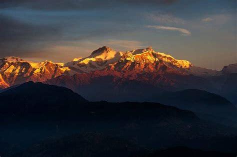 nature landscape mountain hill clouds snow tibet