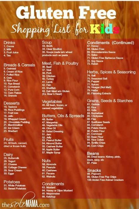 printable grocery list of gluten free foods gluten free grocery shopping list no carb low carb