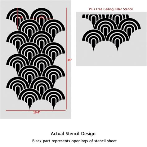 stencils for painting wall stencils scallop pattern allover stencil for painting