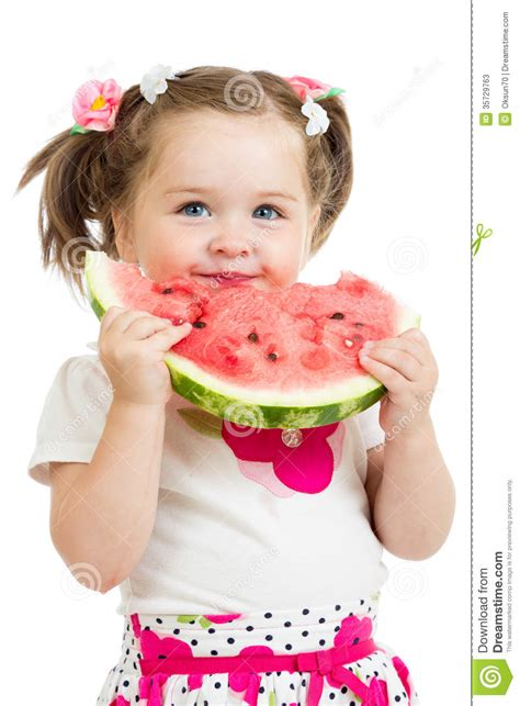 Jumping Beans Gir Watermelon Pink 2d child watermelon isolated stock photos image 35729763