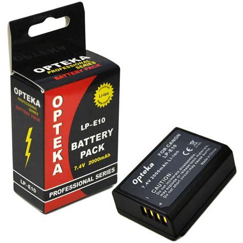 Battery Baterai Canon Lp E10 Lp E10 Lpe10 1100d 1200d 1300d opteka lp e10 2000mah ultra high capacity li ion battery pack for canon eos rebel t3 1100d
