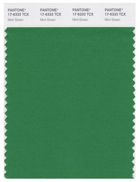 pantone smart   tcx color swatch card mint green