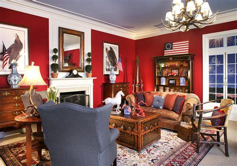 holiday home interiors elegant mantel clocks in living room victorian with red