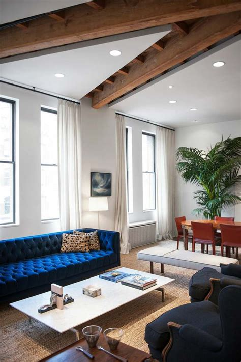 canapé velours design salon canape moderne