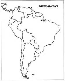 blank maps of south america