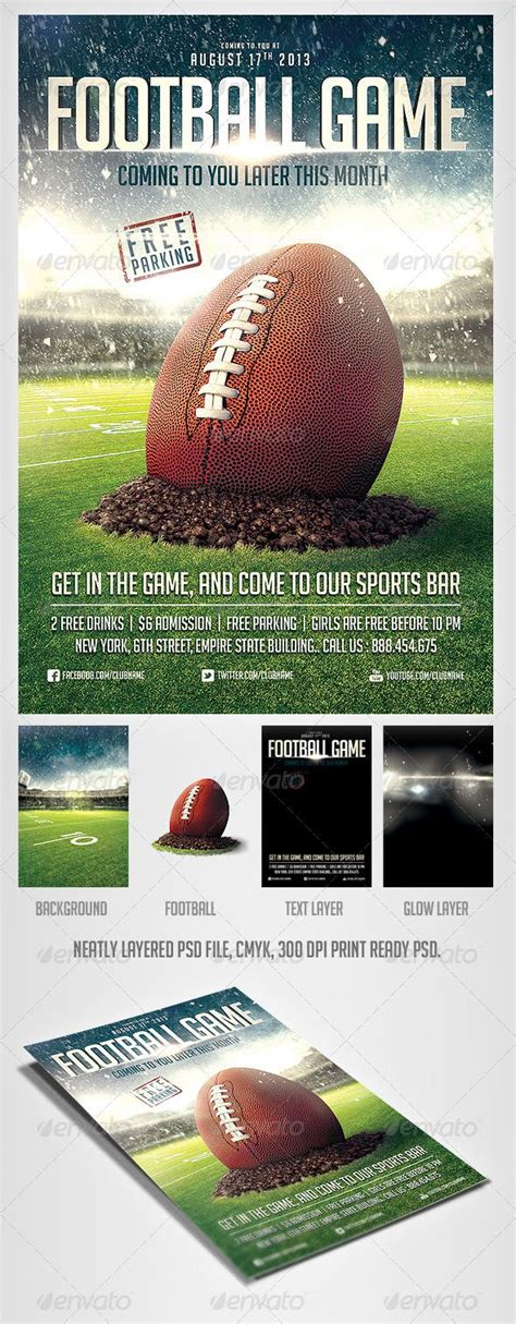 sports event flyer template football flyer template events sports and flyer