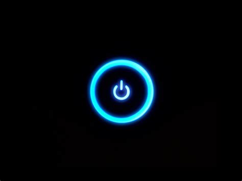 black wallpaper with the power black background blue glow power button xbox xbox 360