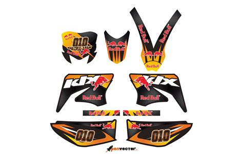 Sticker Decal Kawasaki Klx by Decal Klx 150 Template Kamos Sticker