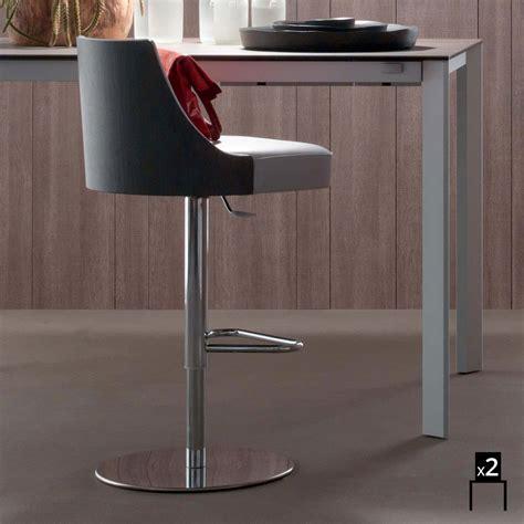sgabelli design cucina set 2 sgabelli da cucina design moderno rivestiti in