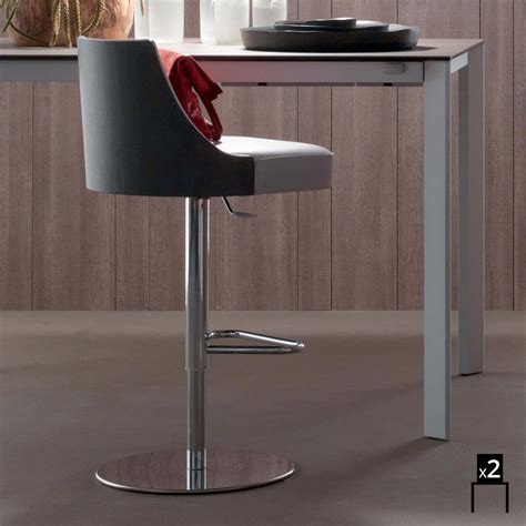 sgabelli ecopelle set 2 sgabelli da cucina design moderno rivestiti in
