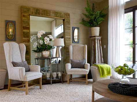 mirror in living room photo page hgtv