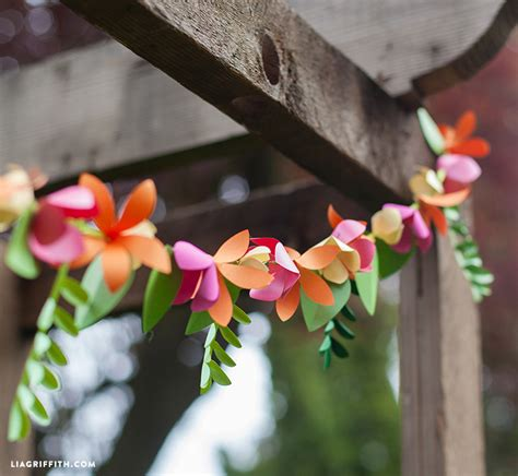 Make Paper Garland - time decor 3d paper flower garland make