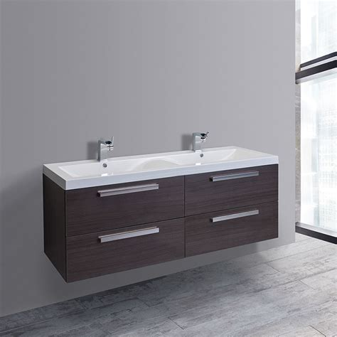 57 bathroom vanity eviva surf 57 inch double bathroom vanity set newbathroomstyle
