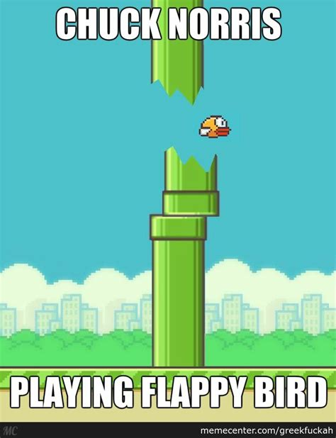 Flappy Bird Meme - flappy bird level chucknorris by greekfuckah meme center