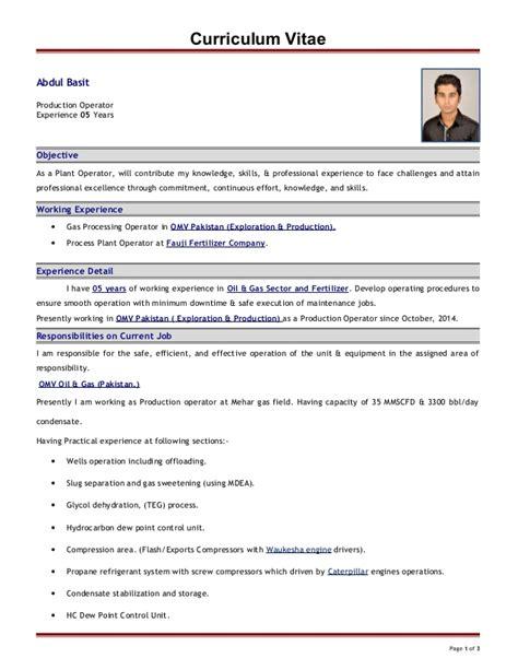 cv for production technician abdul basit