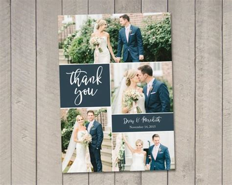 photo wedding thank you cards templates wedding thank you card printable by vintage sweet