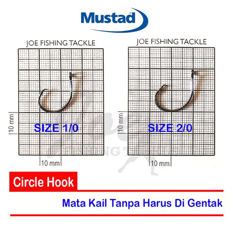 Pancing Mustad jual mustad light circle hook ref 399551npbln