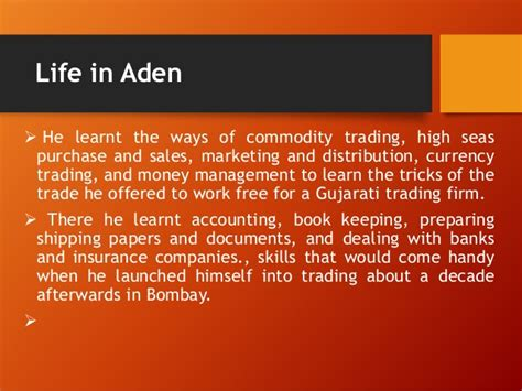 Sales And Trading Mba Program by Dhirubhai Ambani Personality Profile