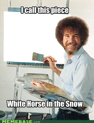 bob ross every painting sip paint blizzard of shame