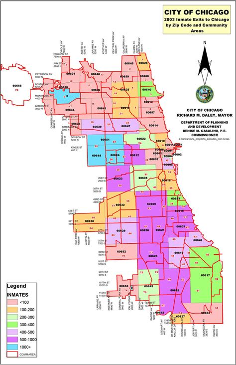 chicago map with zip codes chicago zip codes map
