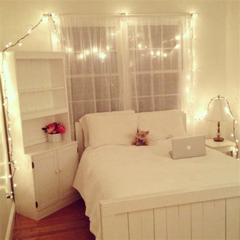 Neat Bedrooms Tumblr White Lights For Bedroom