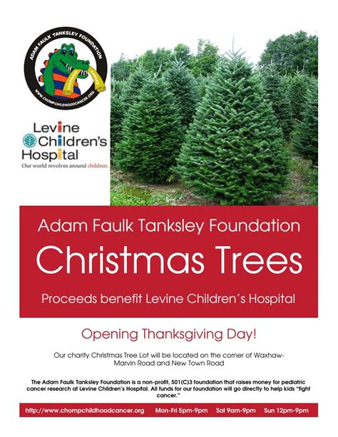 christmas trees for sales flyers 187 2013 tree lot adam faulk tanksley foundation