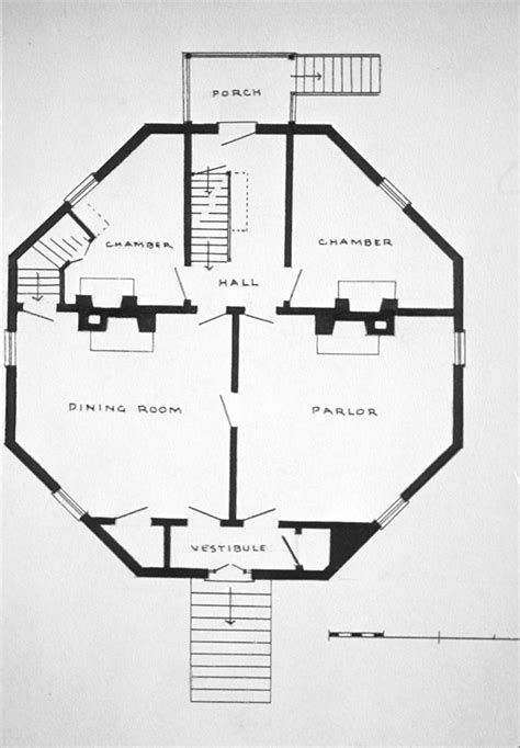 octagon house floor plans free home plans octagon house plans