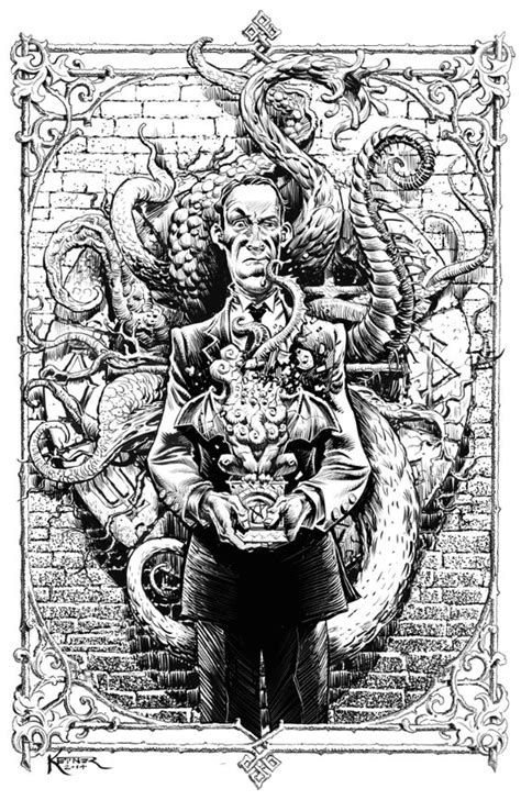 H P Lovecraft Sketches by Brilliant Drawing Of H P Lovecraft And Cthulhu Https