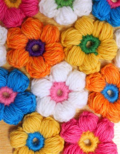 Floweri Puff diy crochet 6 petal puff stitch flower blanket puff stitch crochet crochet flowers and crochet