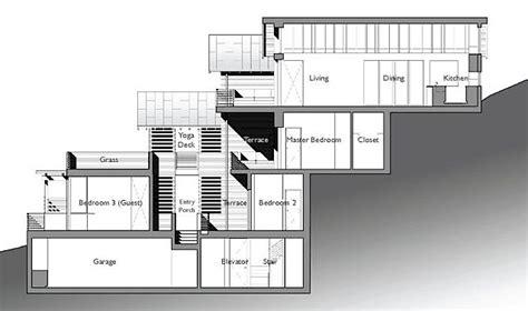 slope house plans functional design exle split level house built on steep slope click on