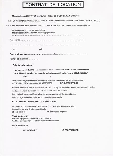 contrat de location non meubl 233 uprod