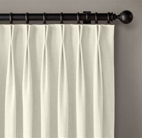 french pleat curtain cost of linen french pleat drapes