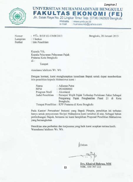 Contoh Surat Izin Wawancara Penelitian Suratmenyuratnet